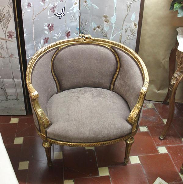 Dominique butaca s xix for Muebles antiguos asturias