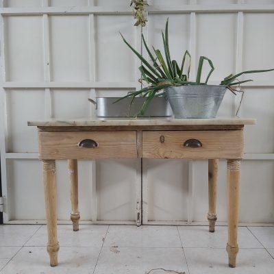 Mesa tocinera madera lavada